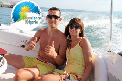 Romantic sea motor boat cruise on the North Blackseacoast of Bulgaria