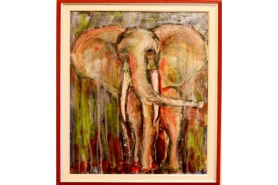 """Подарете изкуство! - Картината """"Слон пожар"""" на Дари Савова"""